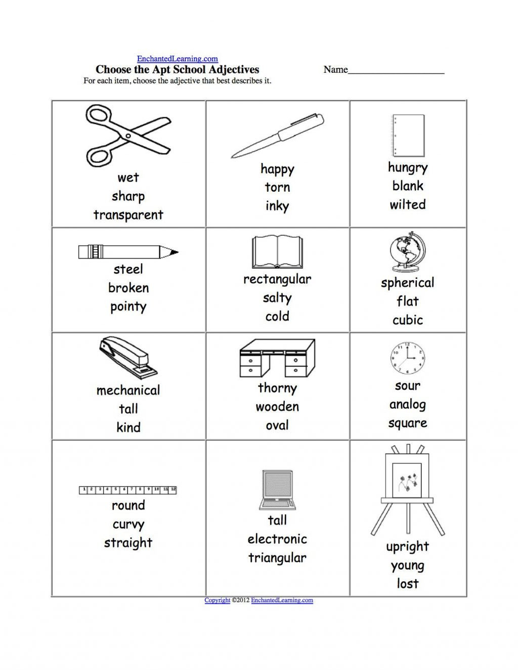 Worksheet Ideas 2nd Grade Adjective Worksheets Worksheet