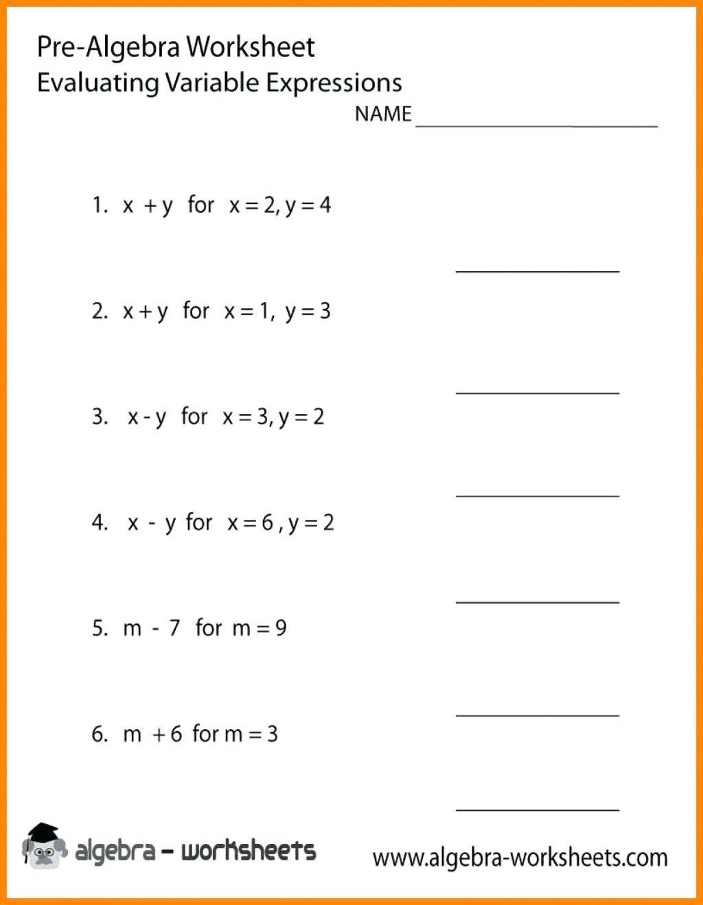 Worksheet Ideas Addition Subtraction Pre Algebra Word