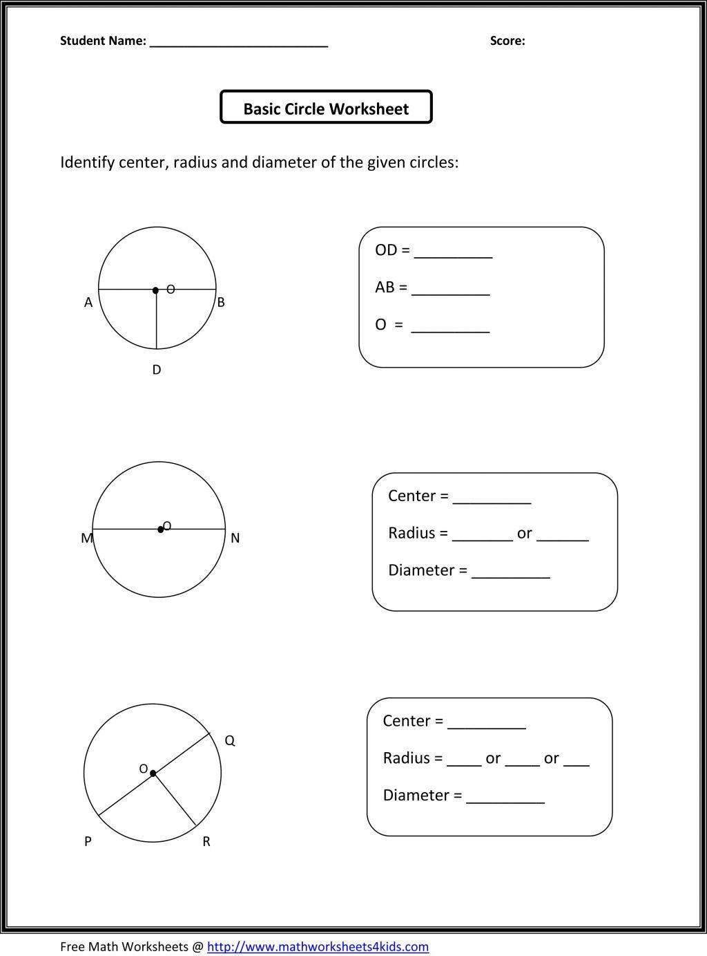8th Grade Geometry Worksheets