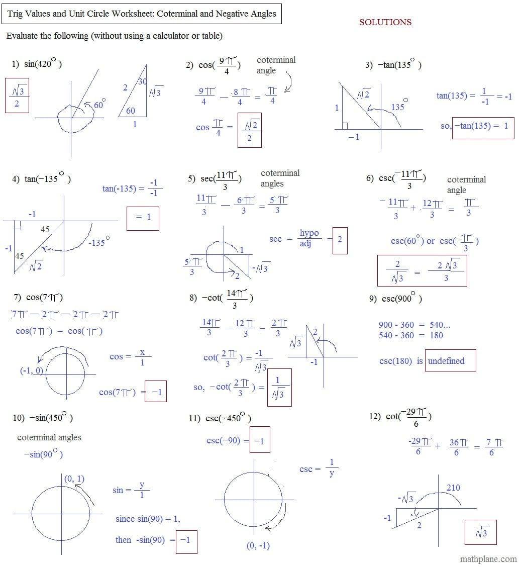 Worksheet Trigonometric Ratios Worksheet Calculating Angle