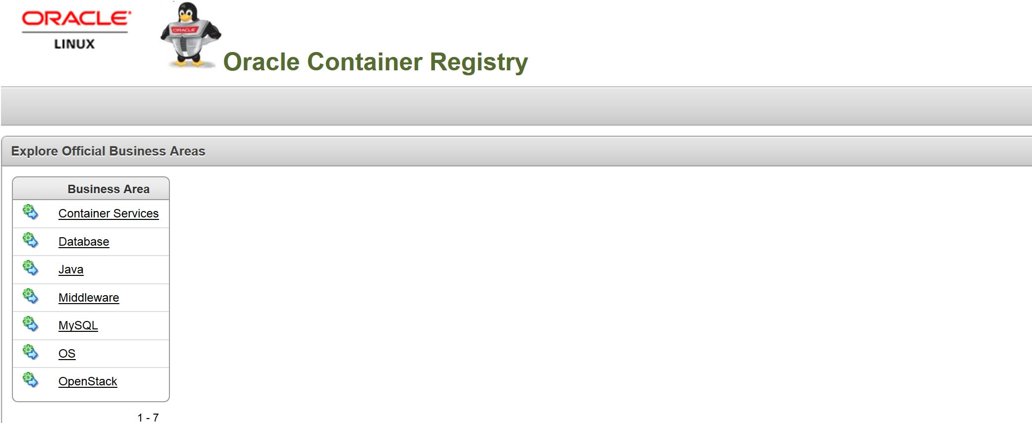 Oracle container registry docker for oracle databases all about containerregistry2 baditri Gallery