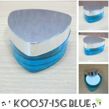 กระปุก อคริลิค 3 เหลี่ยม k0057-15g blue