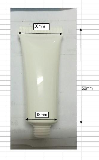 fr syหลอดขาวแป้ง 10มล. #SY#01(เฉพาะ)หลอดขาวแป้ง 10มล. คอ 19มม ก้น 3cm สูง-ไหล่5.8cm