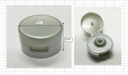 flip cap tube silver 120ml ฝา flip tube เงิน3.8