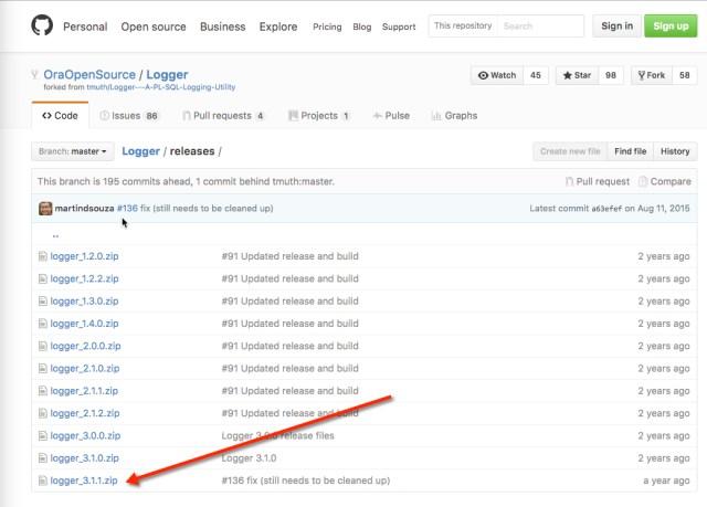 Logger GitHub Screen Shot
