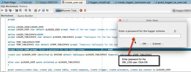 Logger Create User PW Screen Shot