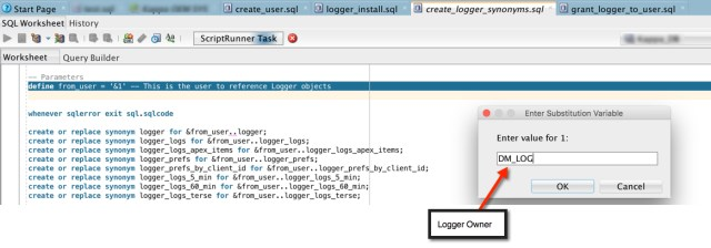 Logger Synonyms Screen Shot