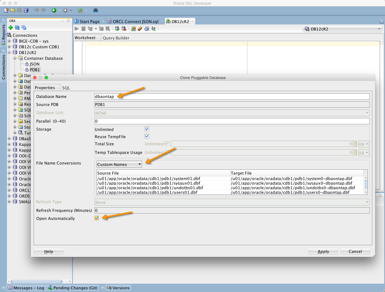 Use SQL Developer to Create a PDB - Database 12cR2 - dbaonTap