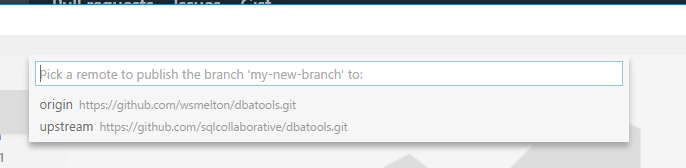 branch remote select