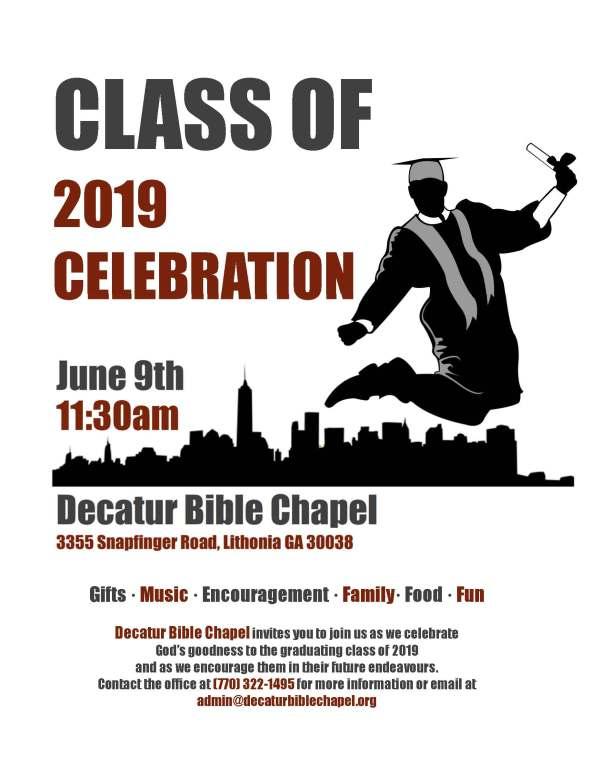 2019 Graduate Celebration Flyer