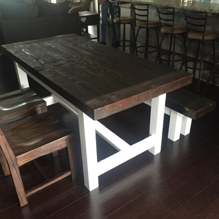 Finished table and bench delivered