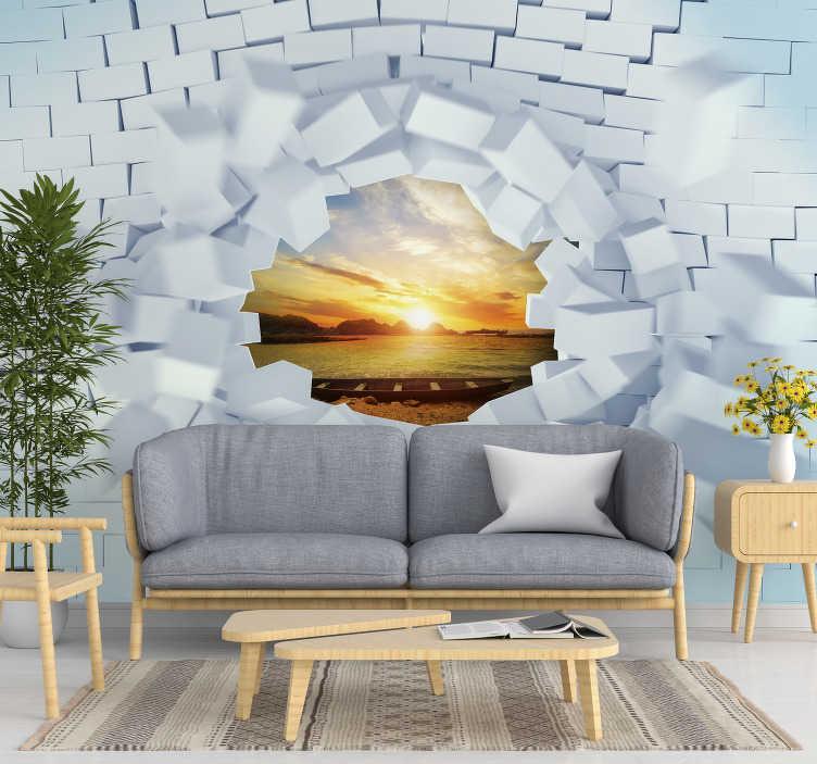 https www tenstickers be photo murale papier peint mural 3d trompe loeil f383