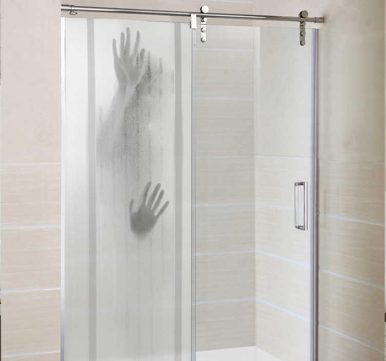 sticker paroi de douche figure encastree