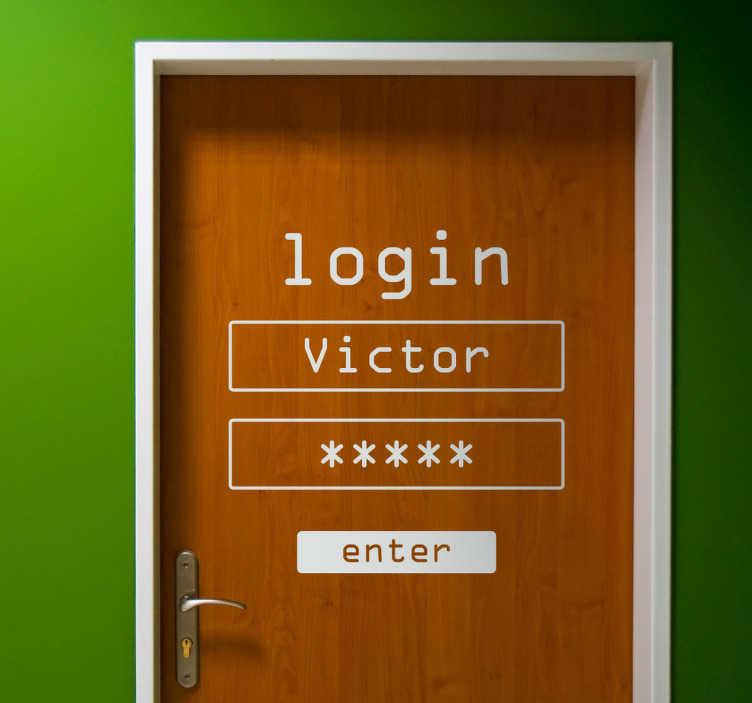 sticker de porte s identifier