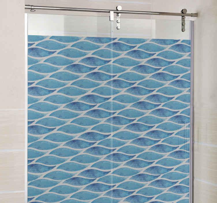 sticker paroi de douche gouttes d eau pour salle de bain