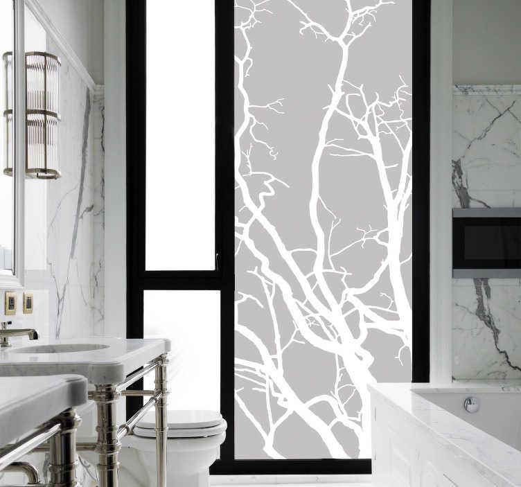 Translucent Bamboo Shower Sticker Tenstickers
