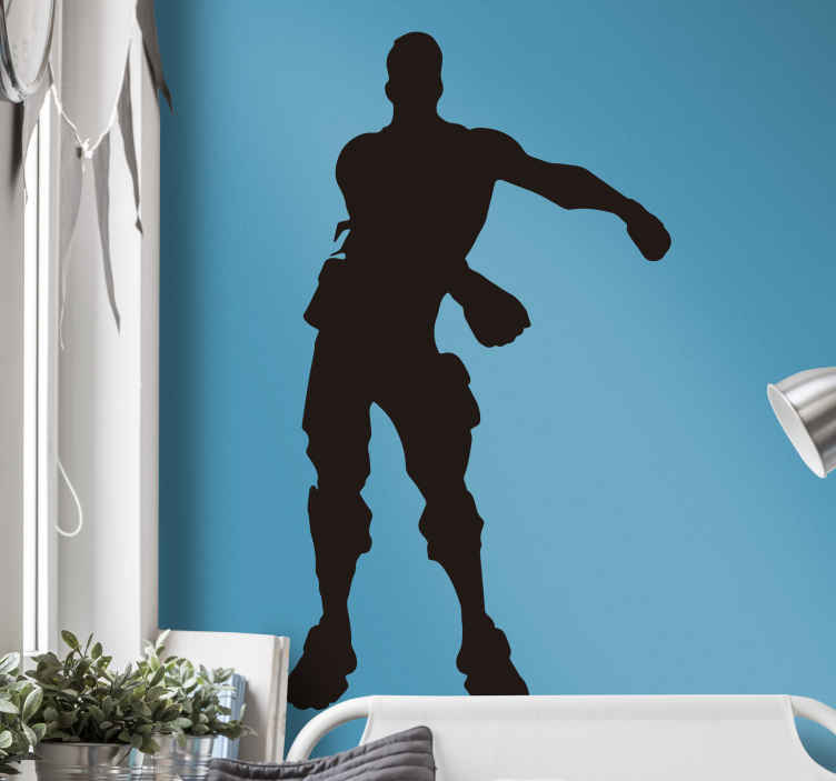 sticker mural silhouette fortnite