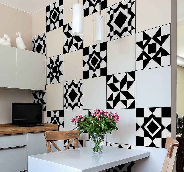 sticker pour carrelage frise motifs geometriques