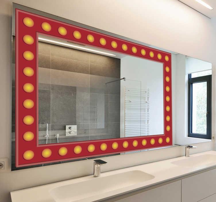 miroir effet miroir ampoules miroir stickers muraux