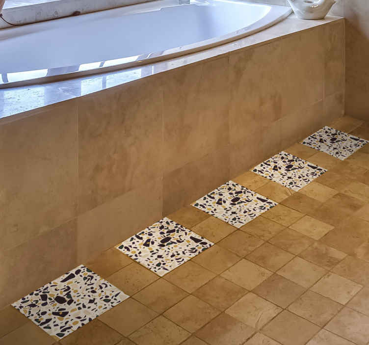 imitation marble vinyl decal floor tile