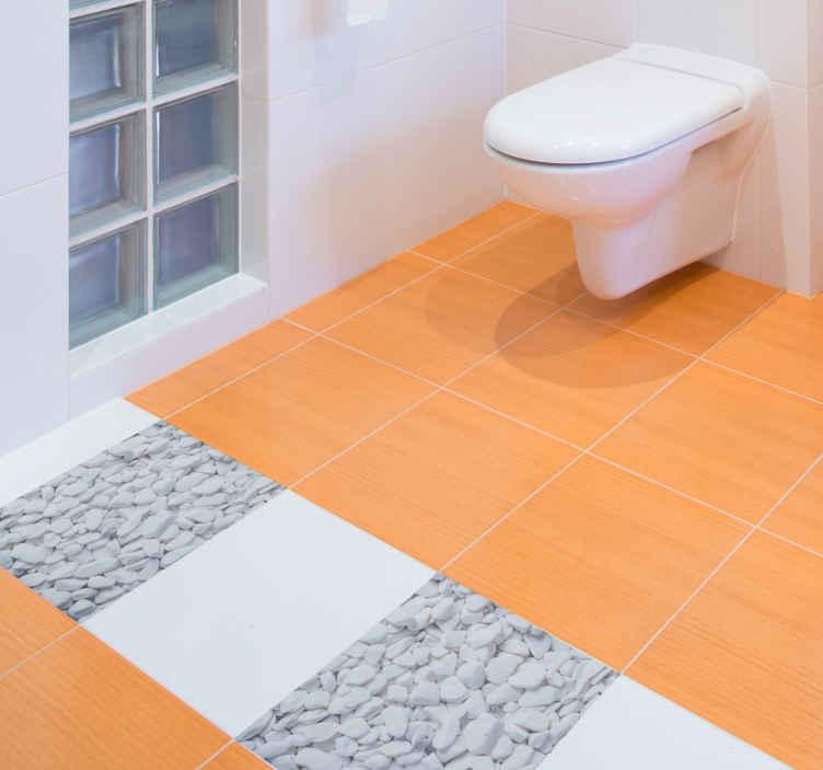 imitation stone vinyl decal floor tile