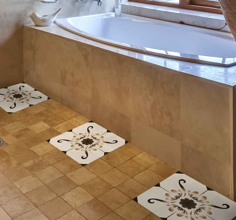 pattern vinyl sticker floor tile decal
