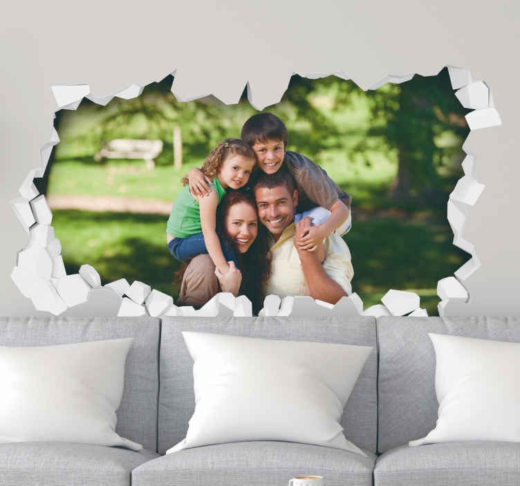 3d personalised photo wall mural sticker