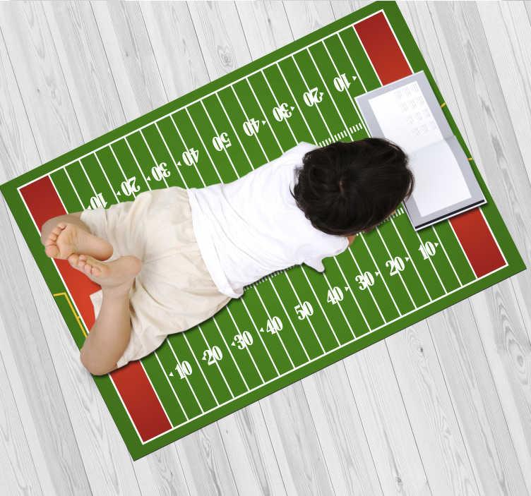 tapis vinyle terrain de football americain