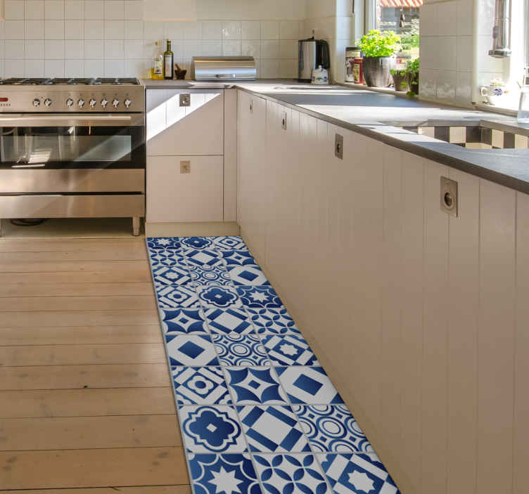 tapis de cuisine elegant en sticker