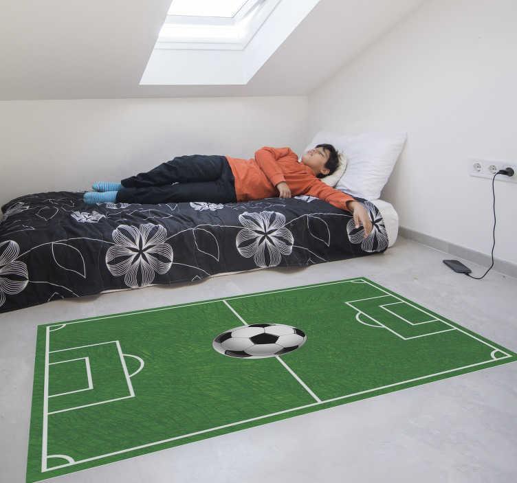 tapis de vinyl pour terrain de football pour adolescents