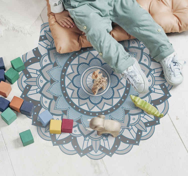 tapis vinyel ethnique tapis rond