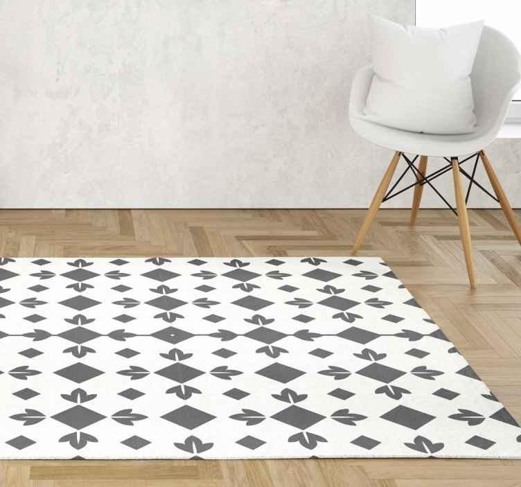 tapis vinyl carreaux de ciment carreaux noir et blanc