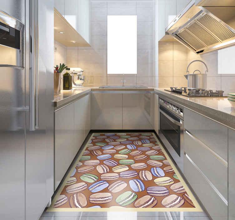 tapis vinyle ultra moderne pour macarons de cuis