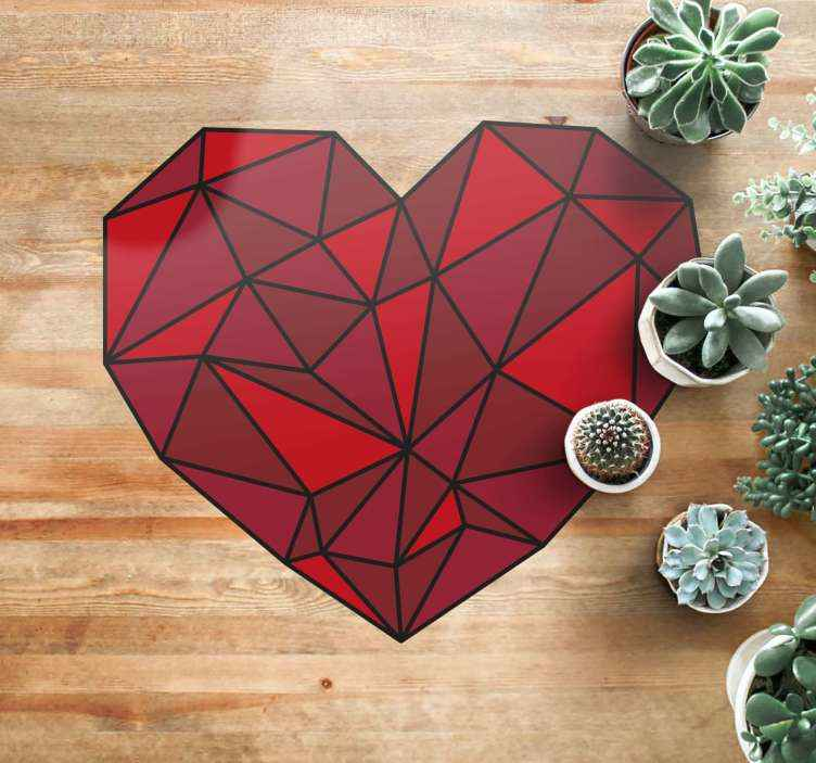 tapis geometrique coeur