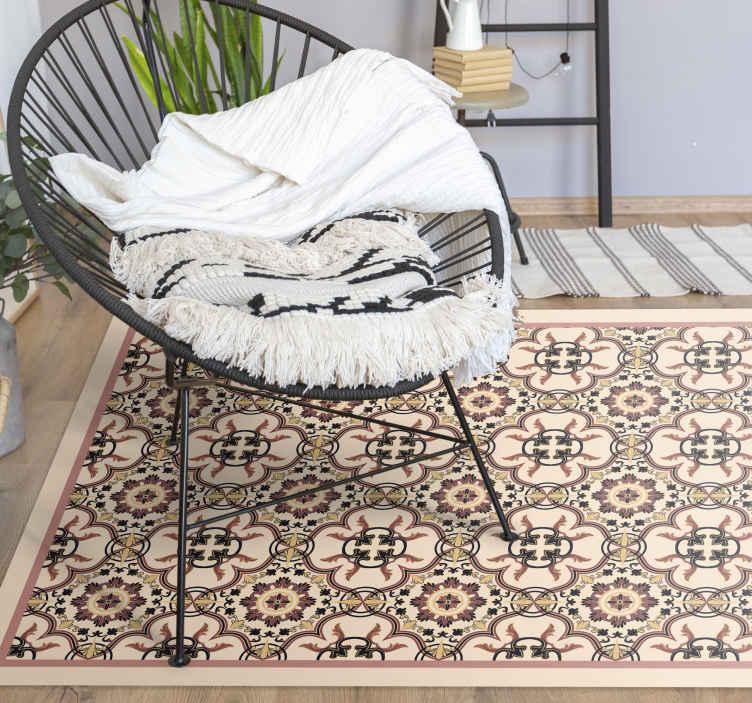 pattern vintage tiles vinyl flooring