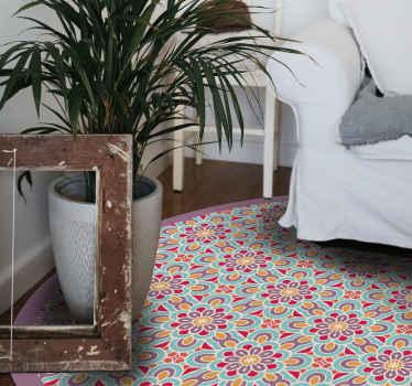 tapis en vinyle carreaux ciment facile