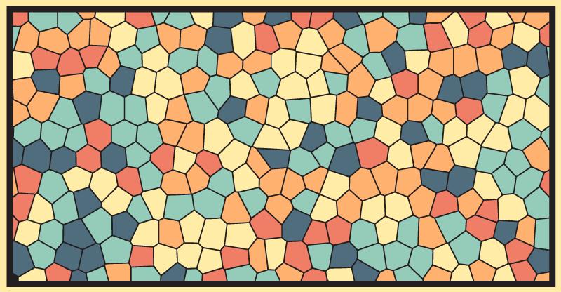 colourful mosaic tile mat