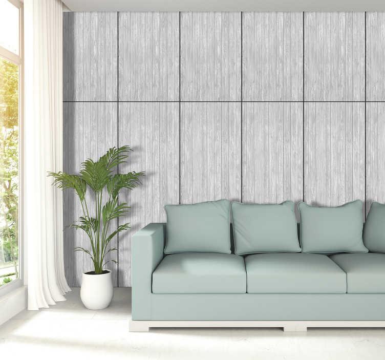 papier peint imitation bois gris