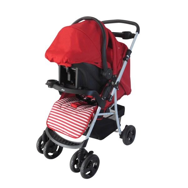 Dbebe carriola stripes con portable roja