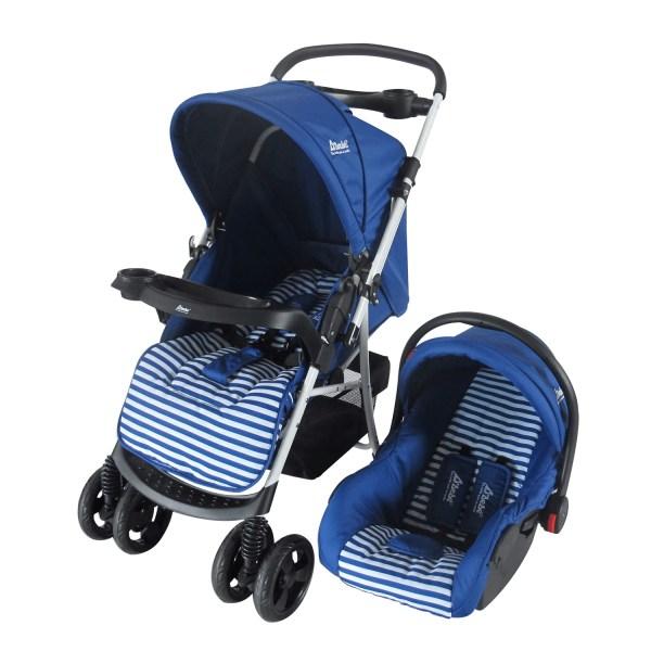Dbebe carriola stripes multifunciones azul