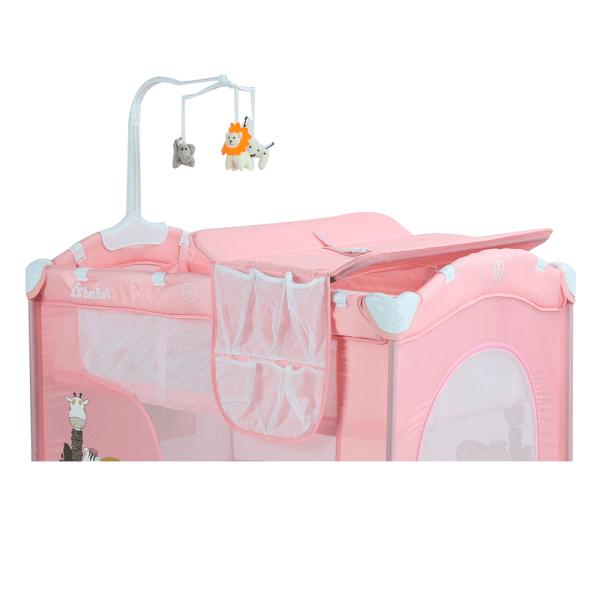 Dreams rosa corral cuna con accesorios