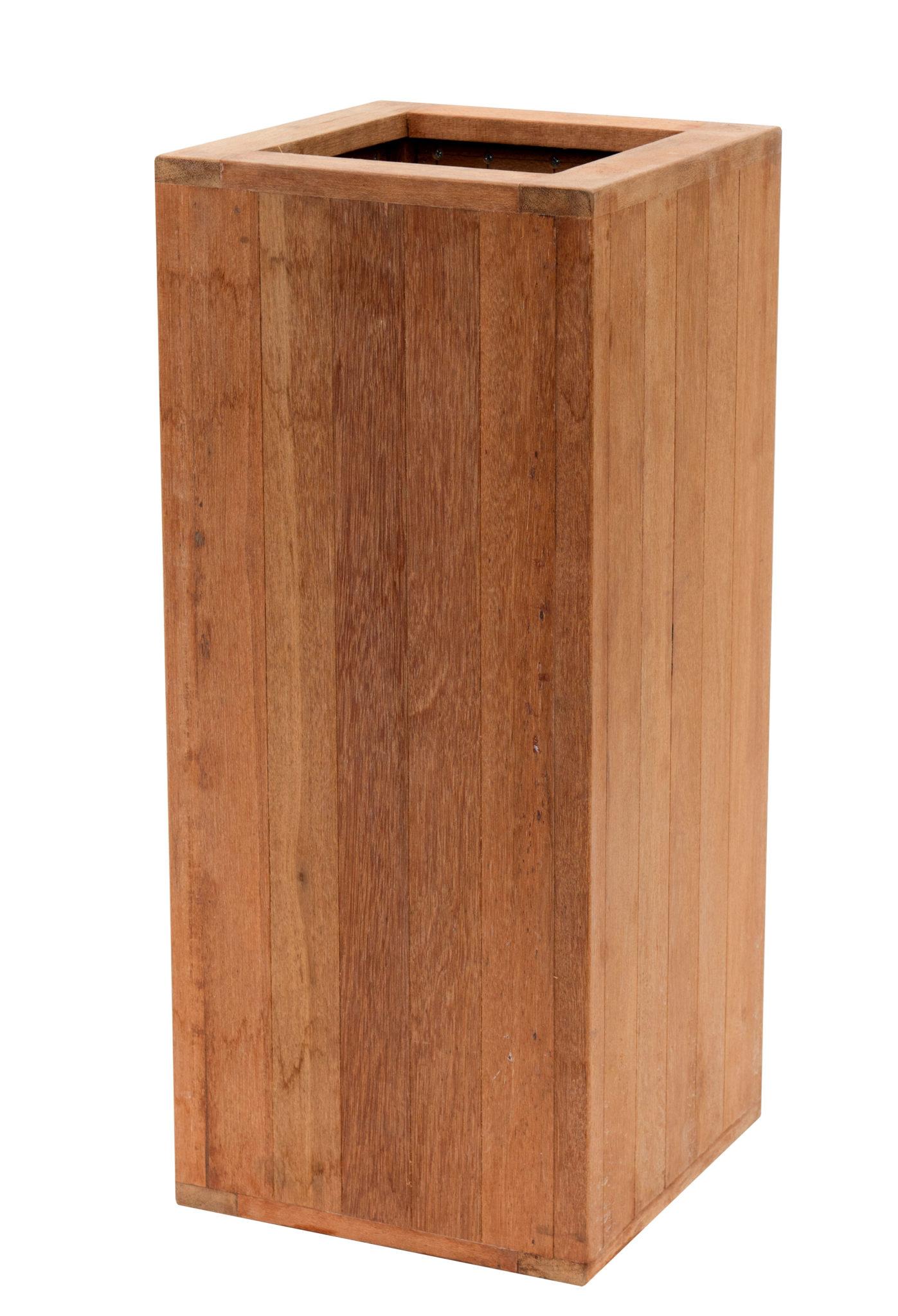 basic Hardhouten Pilaar bloembak