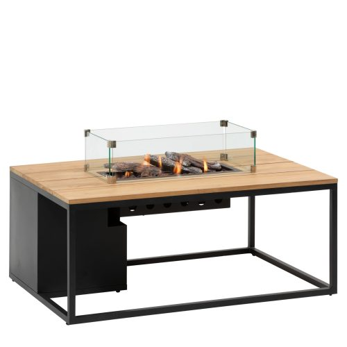 5958750 - Cosiloft 120 lounge table black-teak - glass - side