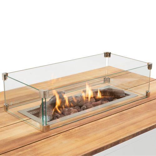 5981030 - Cosipure 120 white-teak - detail - glass set straight