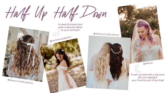 most beautiful wedding half up half down hairstyles