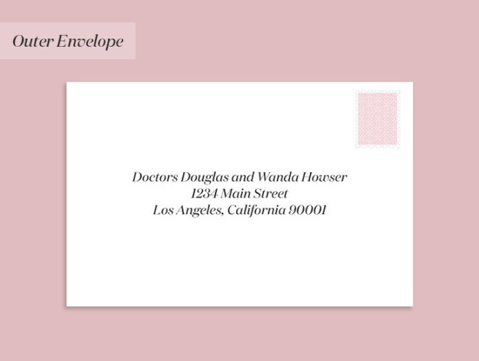 Wedding invitation to a couple where both doctors are