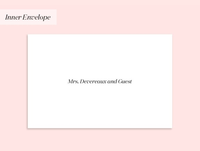 Wedding invitation to a widow (with a guest)