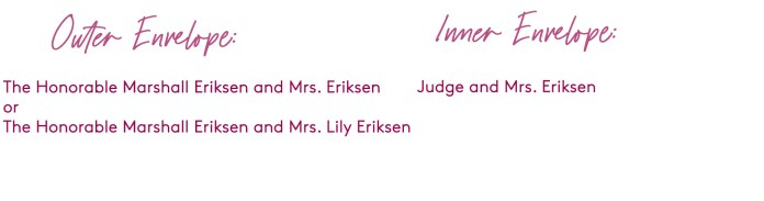 how to address a wedding invitation to a judge and spouse