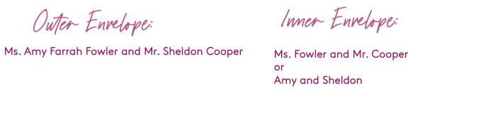 how to address a wedding invitation to an unmarried couple who live together