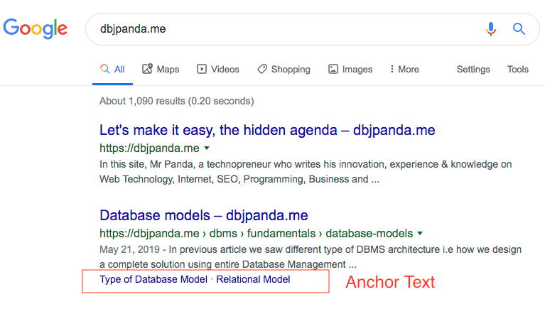 Anchor Text Benefit in SEO - Table of Content for Elementor